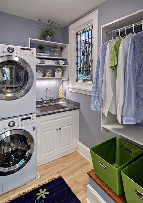 60 Amazingly inspiring small laundry room design ideas on Small Laundry Room Cabinets  id=63121