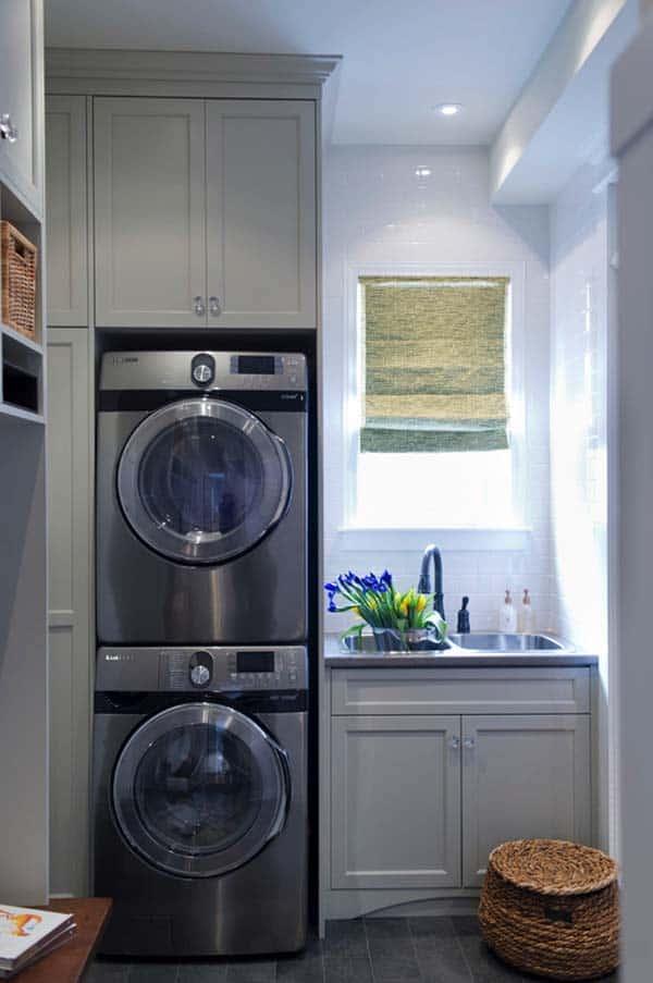 60 Amazingly inspiring small laundry room design ideas on Small Laundry Room Cabinets  id=96591