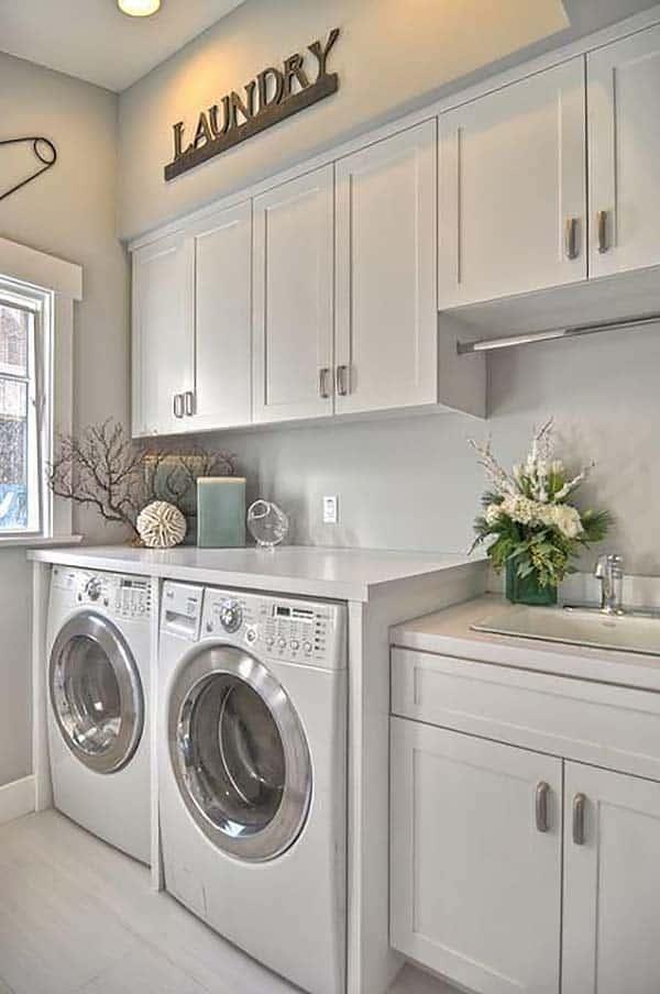 60 Amazingly inspiring small laundry room design ideas on Laundry Cabinet Ideas  id=52778