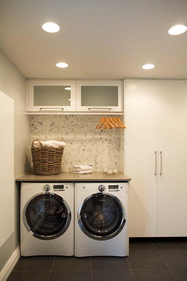 60 Amazingly inspiring small laundry room design ideas on Small Laundry Room Cabinets  id=35361