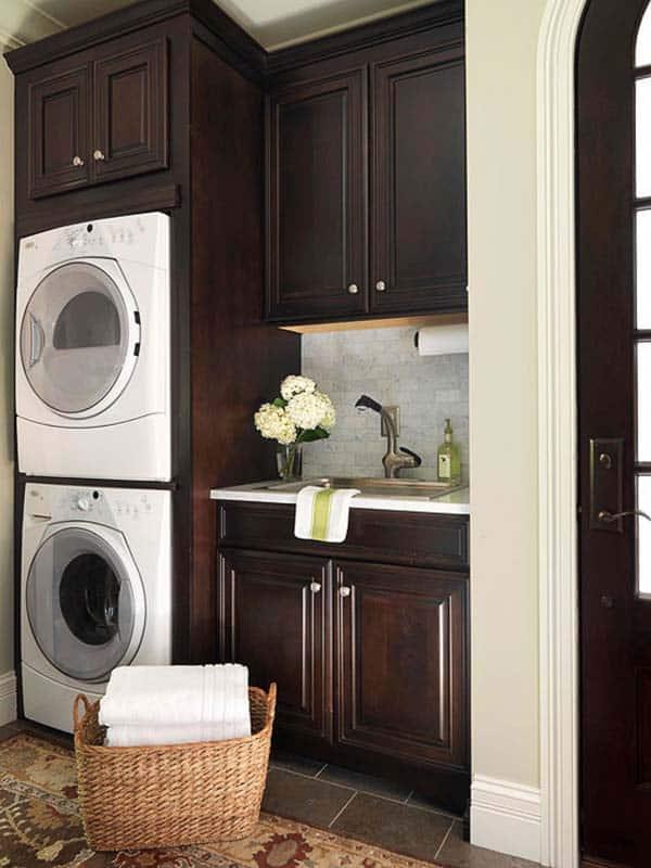 60 Amazingly inspiring small laundry room design ideas on Small Laundry Room Cabinets  id=14797