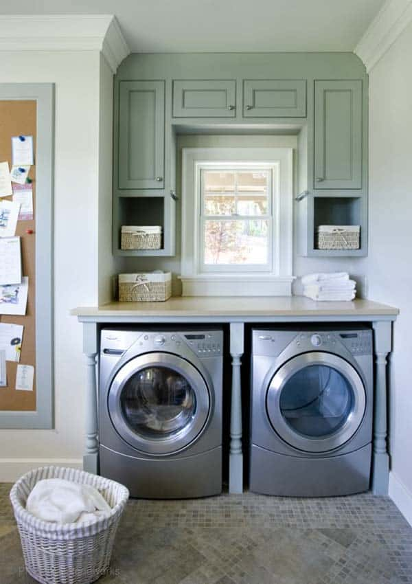 60 Amazingly inspiring small laundry room design ideas on Small Laundry Room Cabinets  id=91843