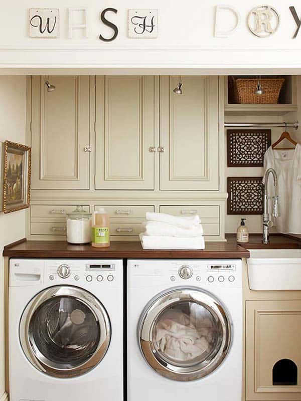 60 Amazingly inspiring small laundry room design ideas on Small Laundry Ideas  id=50310