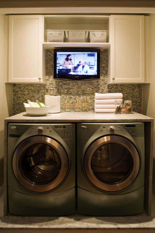 60 Amazingly inspiring small laundry room design ideas on Small Laundry Room Cabinets  id=40448