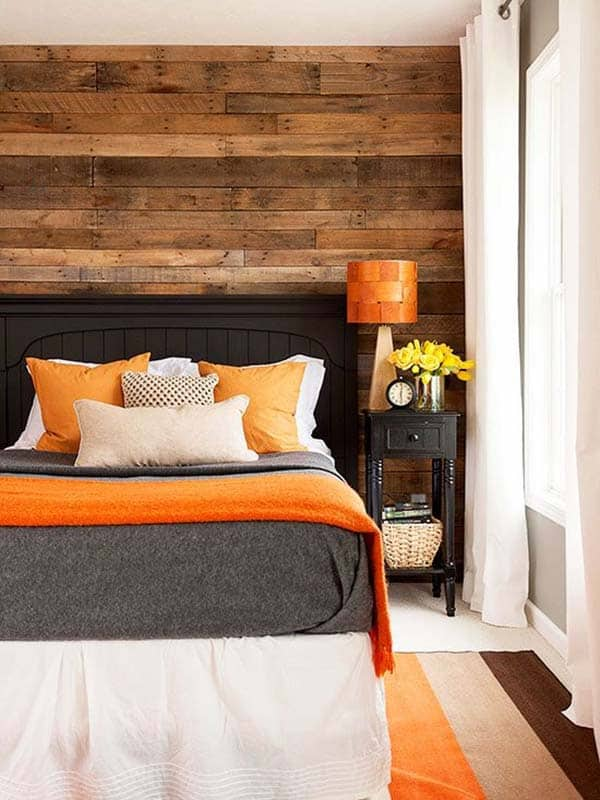 featured posts image for 39 Jaw-dropping wood clad bedroom feature wall ideas