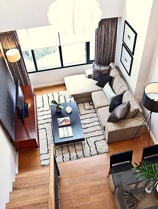 38 small yet super cozy living room designs - Living room design for small spaces image ...