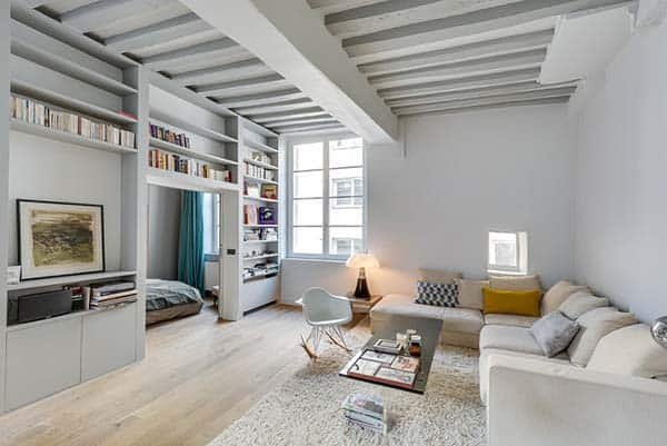 featured posts image for Bright and airy interiors showcased in a Paris bachelor pad