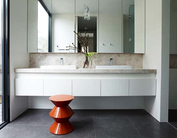 bathroom shaving cabinet spacious home renovation in australia by canny architecture 11642