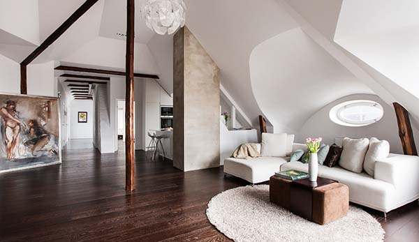 featured posts image for Light and airy four-room loft in Sweden exhibits intriguing layout