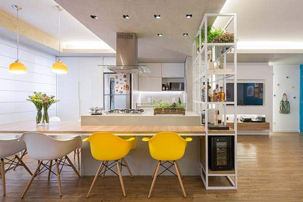 featured posts image for Unique floor plan in a small apartment in Brazil