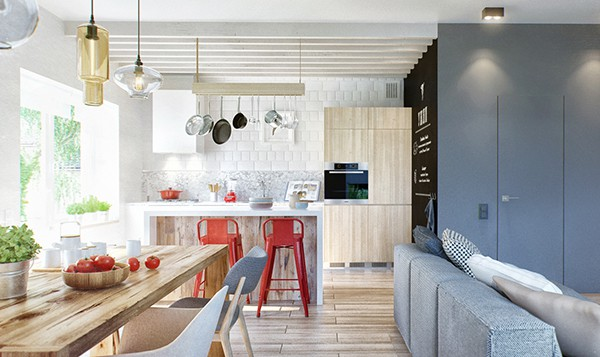 featured posts image for Duplex features minimalist lines with Scandinavian aesthetics