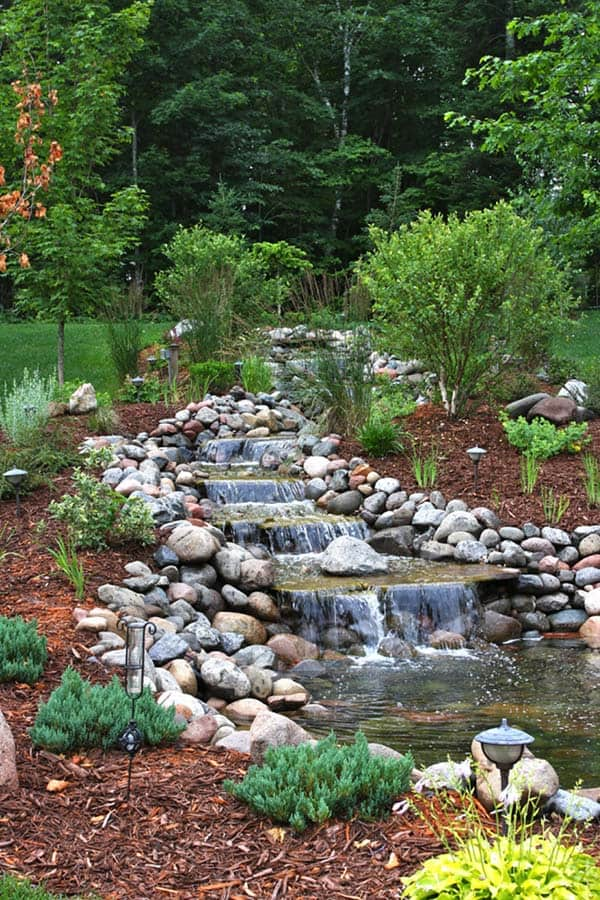 53 Incredibly fabulous and tranquil backyard waterfalls on Garden Waterfall Design id=64183