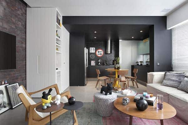 featured posts image for Masculine details stylishly displayed in Brazilian apartment