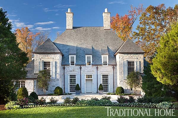 featured posts image for Serene and inviting traditional stone house in North Carolina