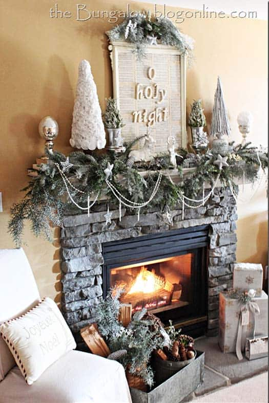 Decorating Ideas > 50+ Absolutely Fabulous Christmas Mantel Decorating Ideas ~ 053300_Holiday Decorating Ideas Mantel