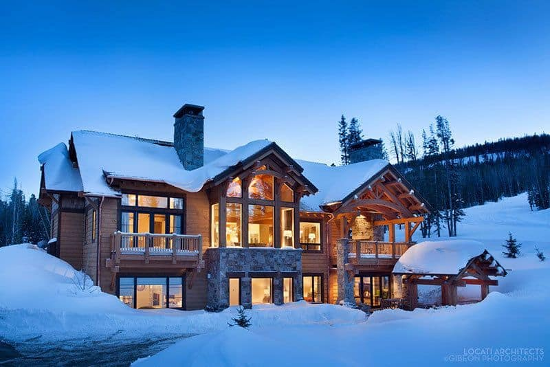 Winter Warmth In A Fabulous Montana Mountain Retreat