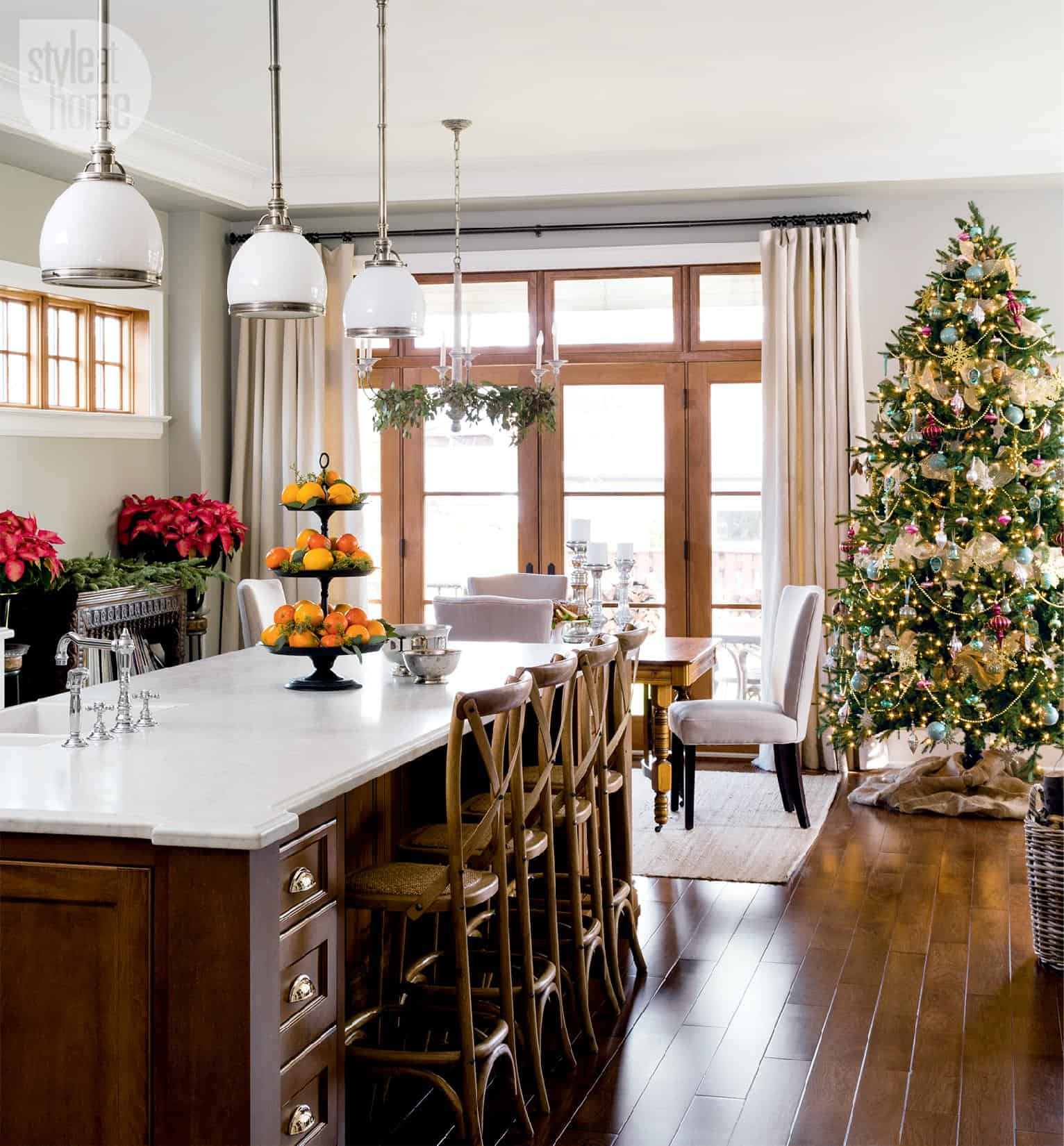 A canadian home styled for christmas with natural elements for Home decor online canada