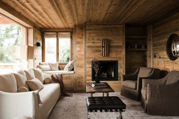featured posts image for Rustic mountain chalet in Switzerland provides relaxed interiors
