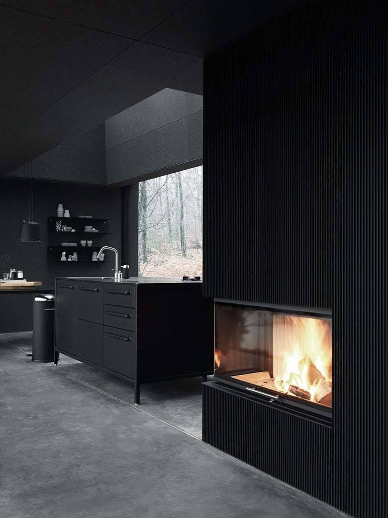 Dramatic Black Kitchen Ideas-37-1 Kindesign