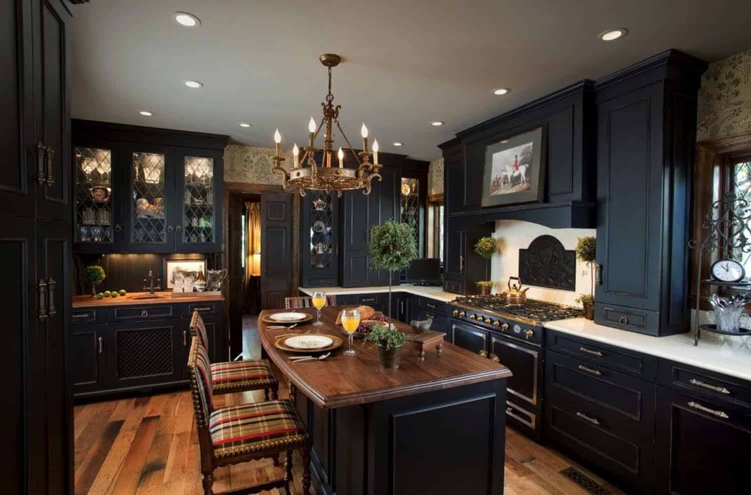 Dramatic Black Kitchen Ideas-40-1 Kindesign