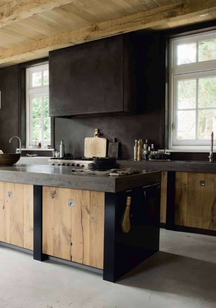 Dramatic Black Kitchen Ideas-42-1 Kindesign