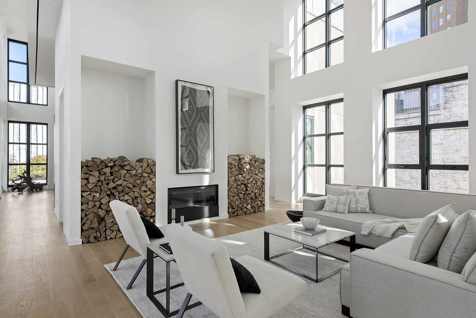 A sleek minimalist penthouse in the heart of tribeca ny for Home design york