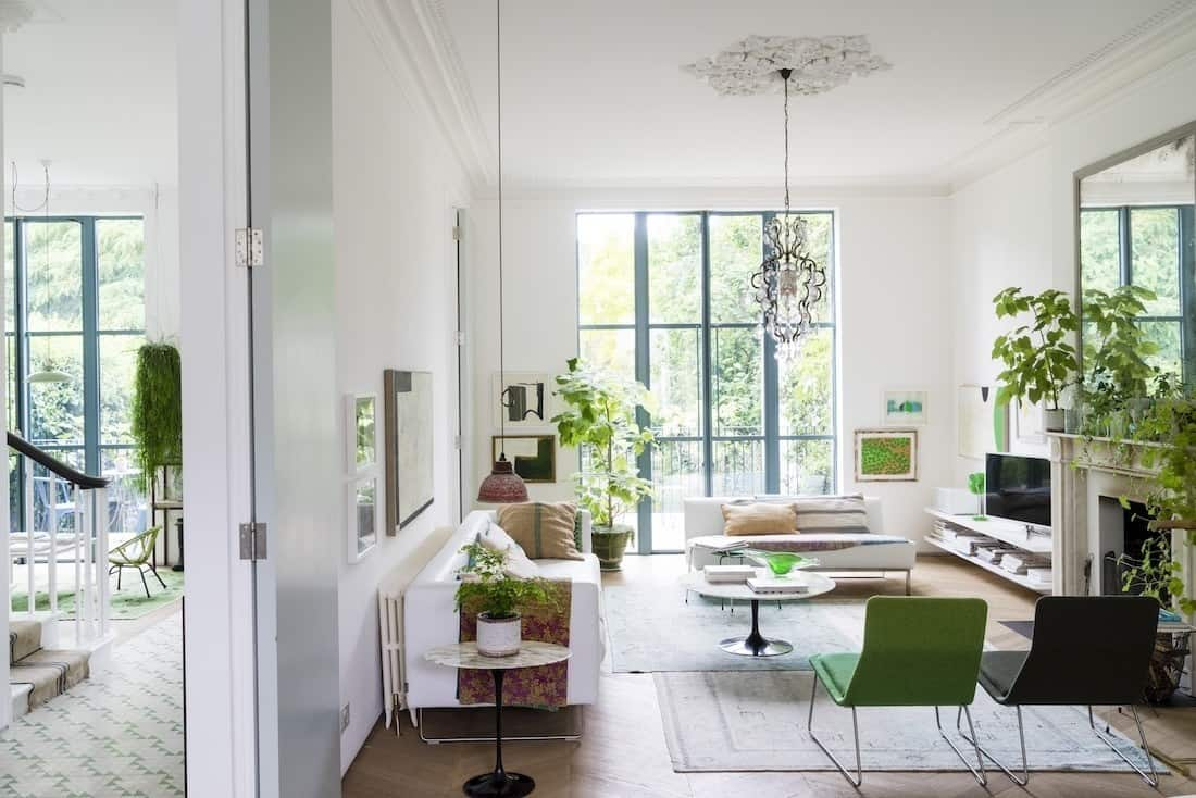 A luminous Victorian home filled with plants in London