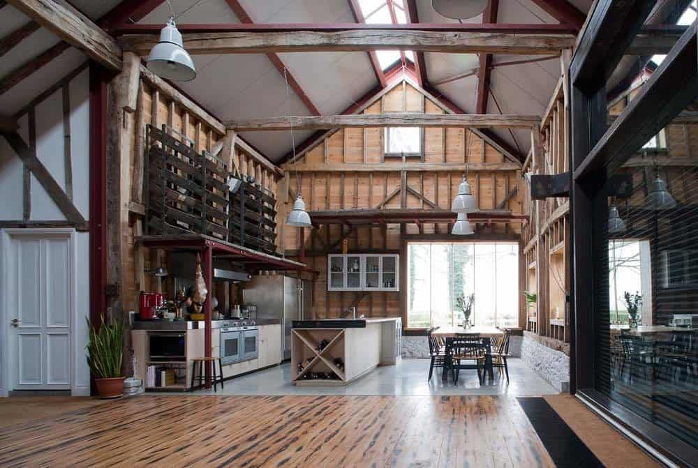 18th century barn conversion in the English countryside