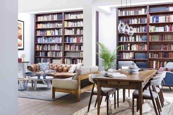 featured posts image for Inspiring dwelling in Madrid displaying a cool home library