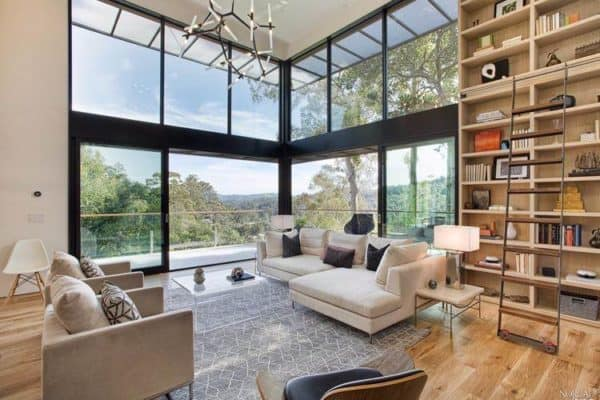 featured posts image for Striking sustainable smart home perched hillside in Mill Valley