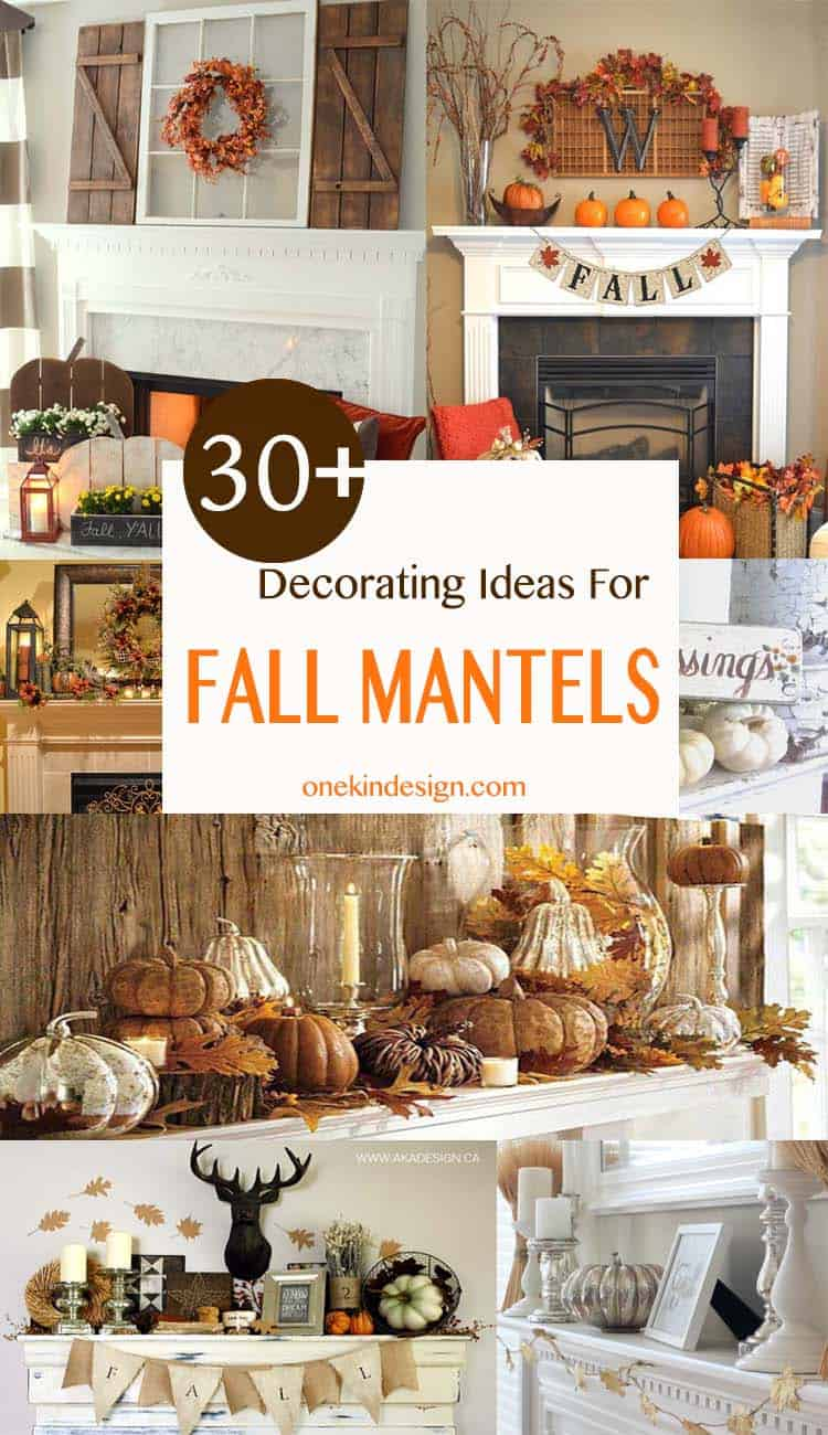 30+ Amazing fall decorating ideas for your fireplace mantel