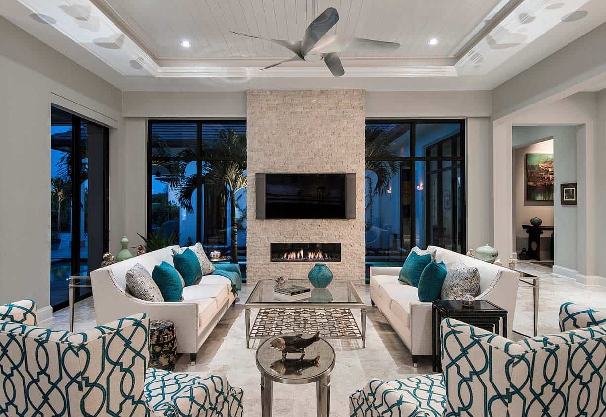Custom estate home with elegant design features in Naples