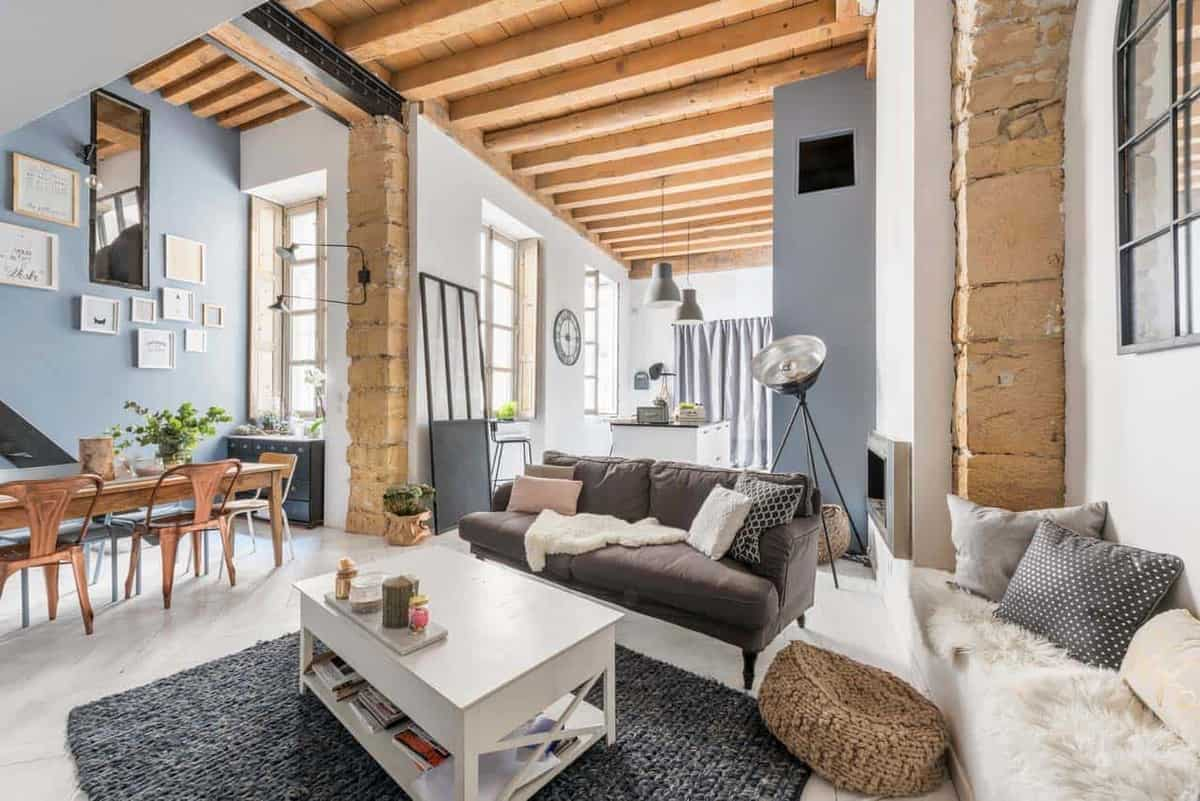 Charming loft apartment in France with modern-industrial aesthetic