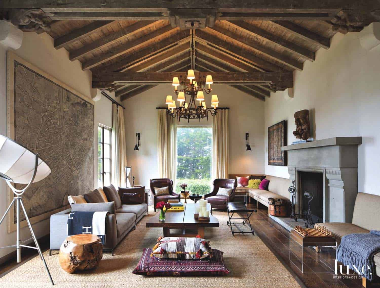 Gorgeous spanish colonial style renovation in san francisco architecture and design - Spanish home interior design ideas ...