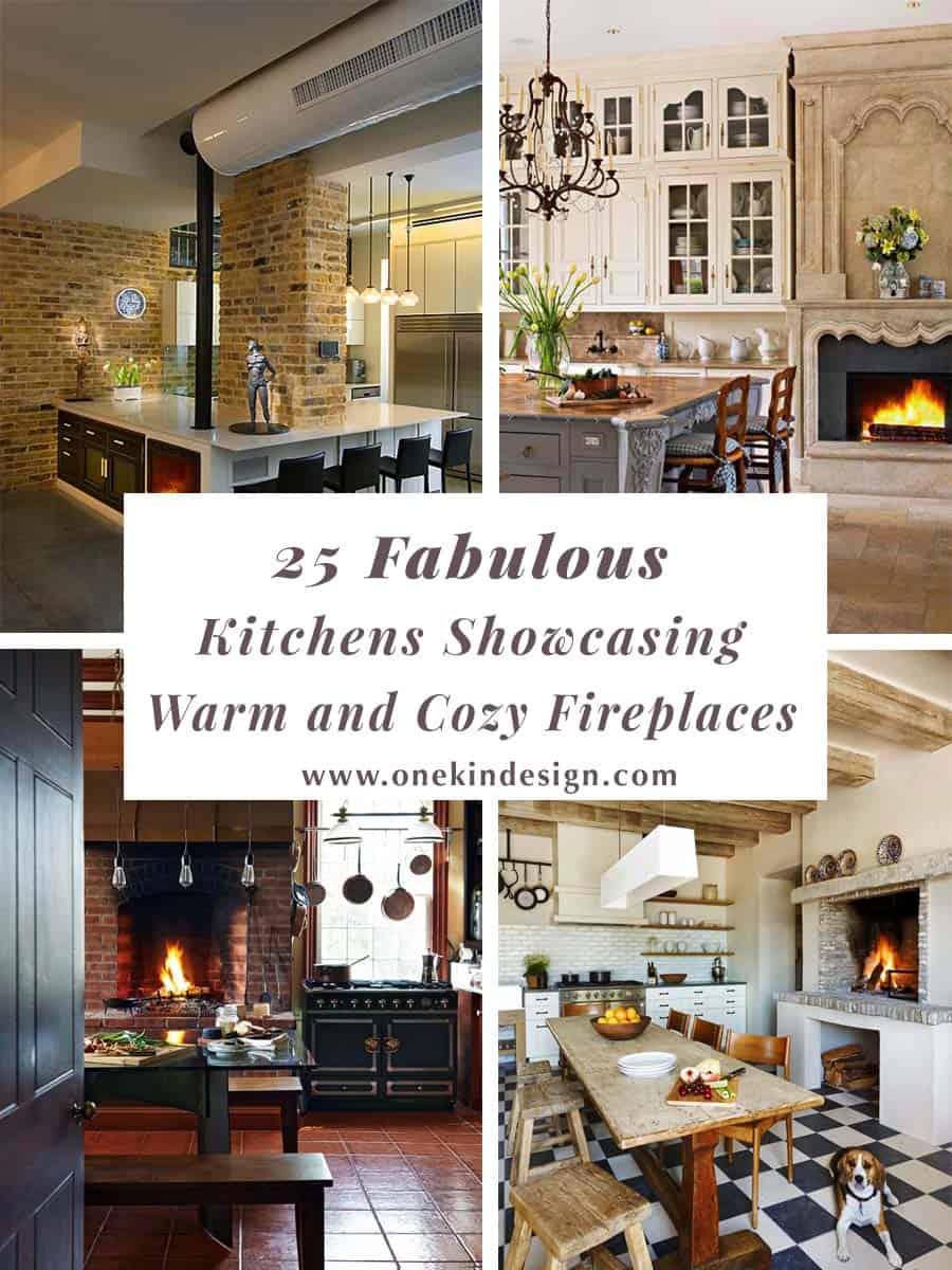 Kitchen Showcasing Cozy Fireplace-00-1 Kindesign