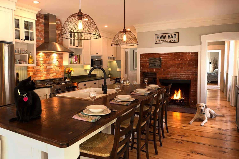 Kitchen Showcasing Cozy Fireplace-03-1 Kindesign