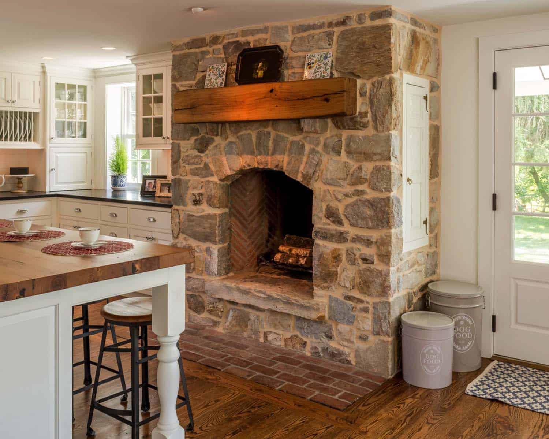 Kitchen Showcasing Cozy Fireplace-07-1 Kindesign