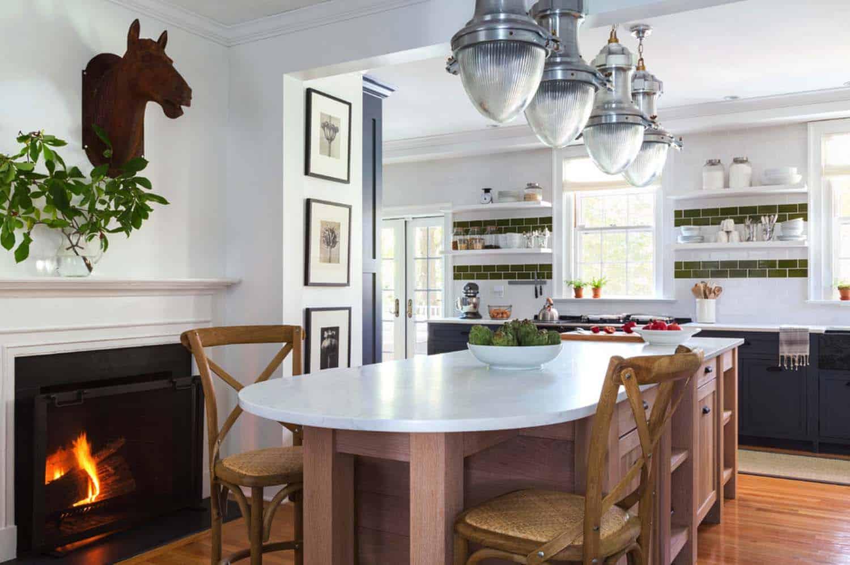 Kitchen Showcasing Cozy Fireplace-24-1 Kindesign