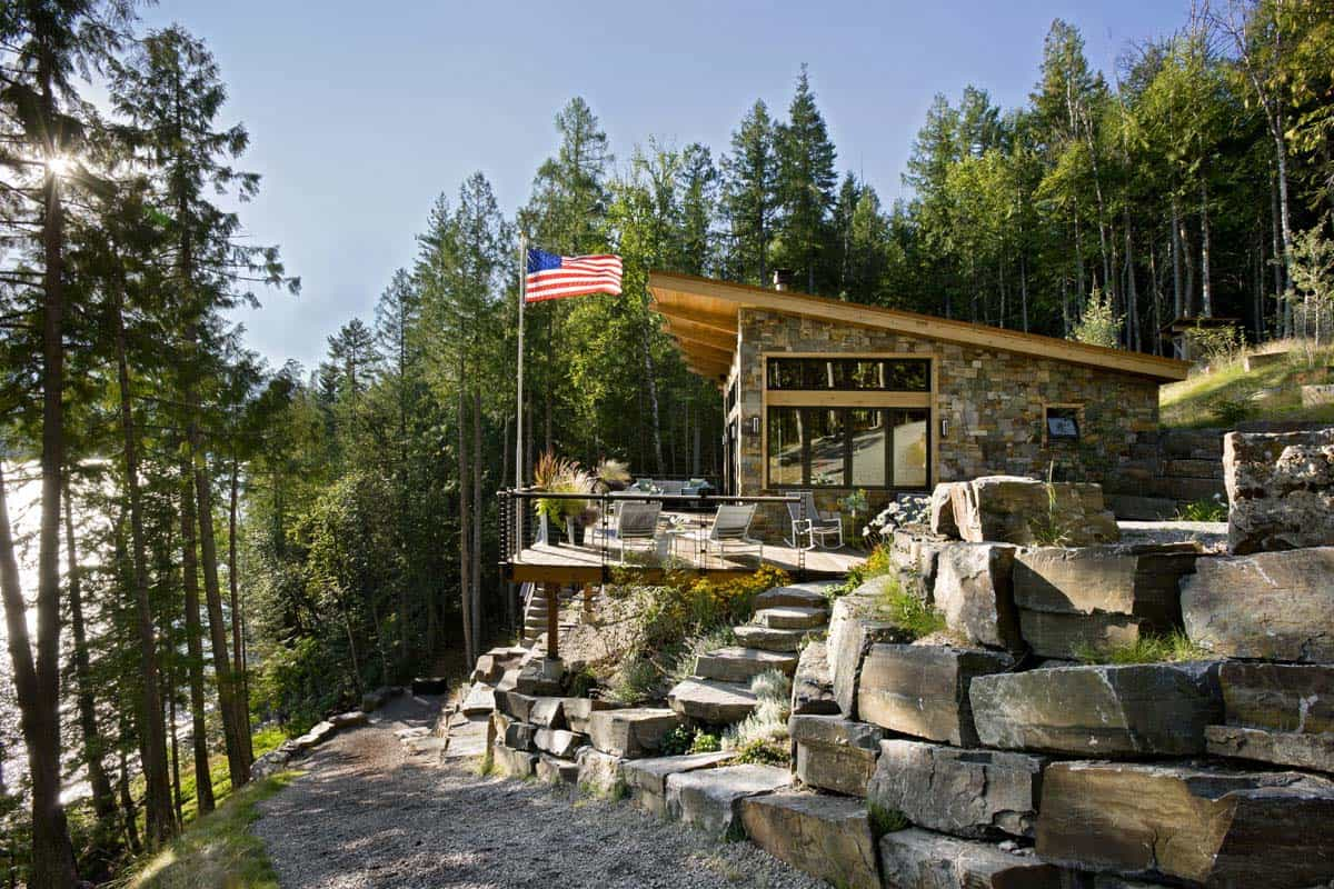 Rustic Lake House-Reid Smith Architects-01-1 Kindesign