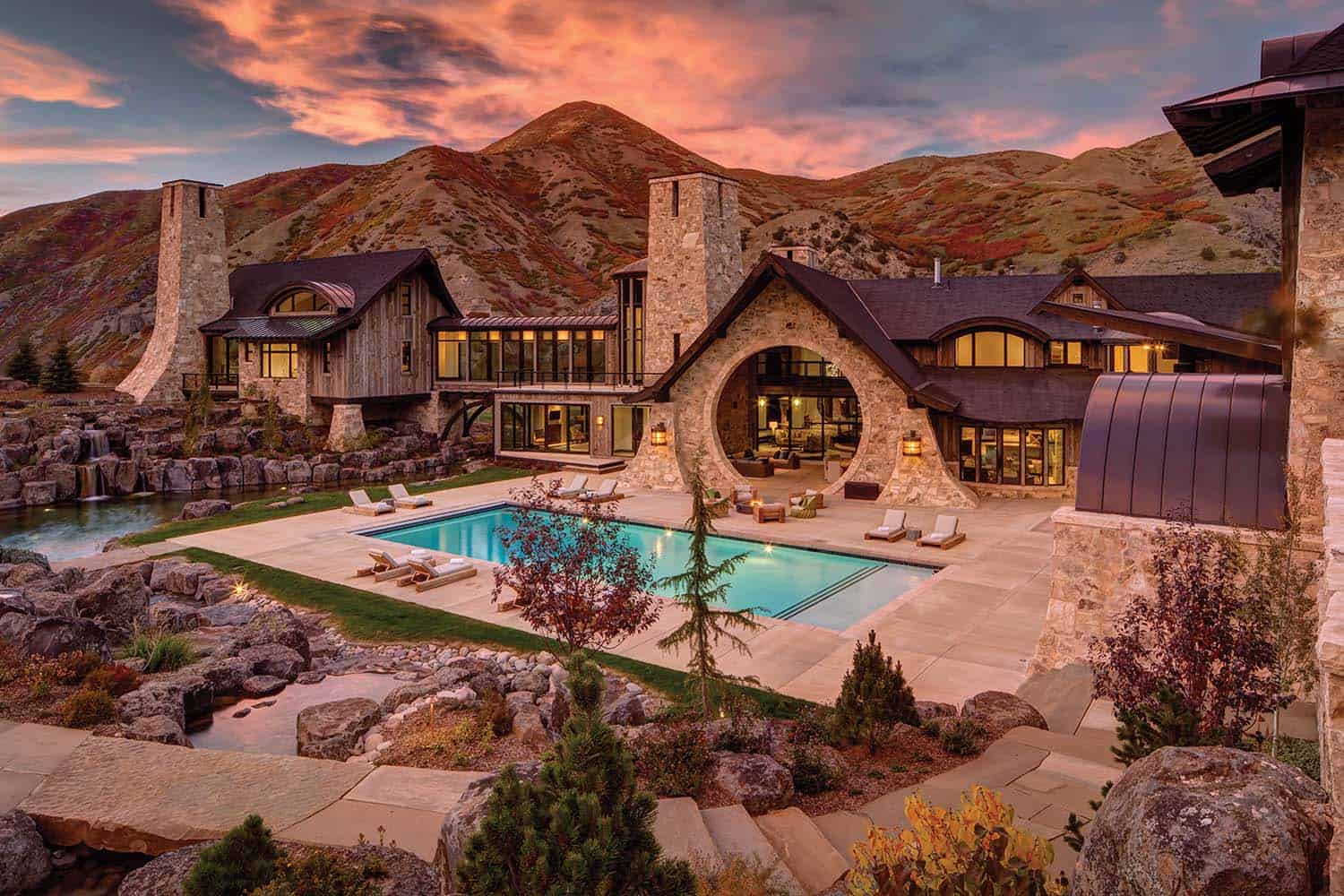 Insane mountain dream home with views of the Wasatch Range, Utah