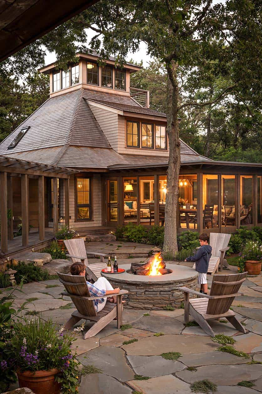 Woodland retreat on Martha's Vineyard with ultimate indoor-outdoor living