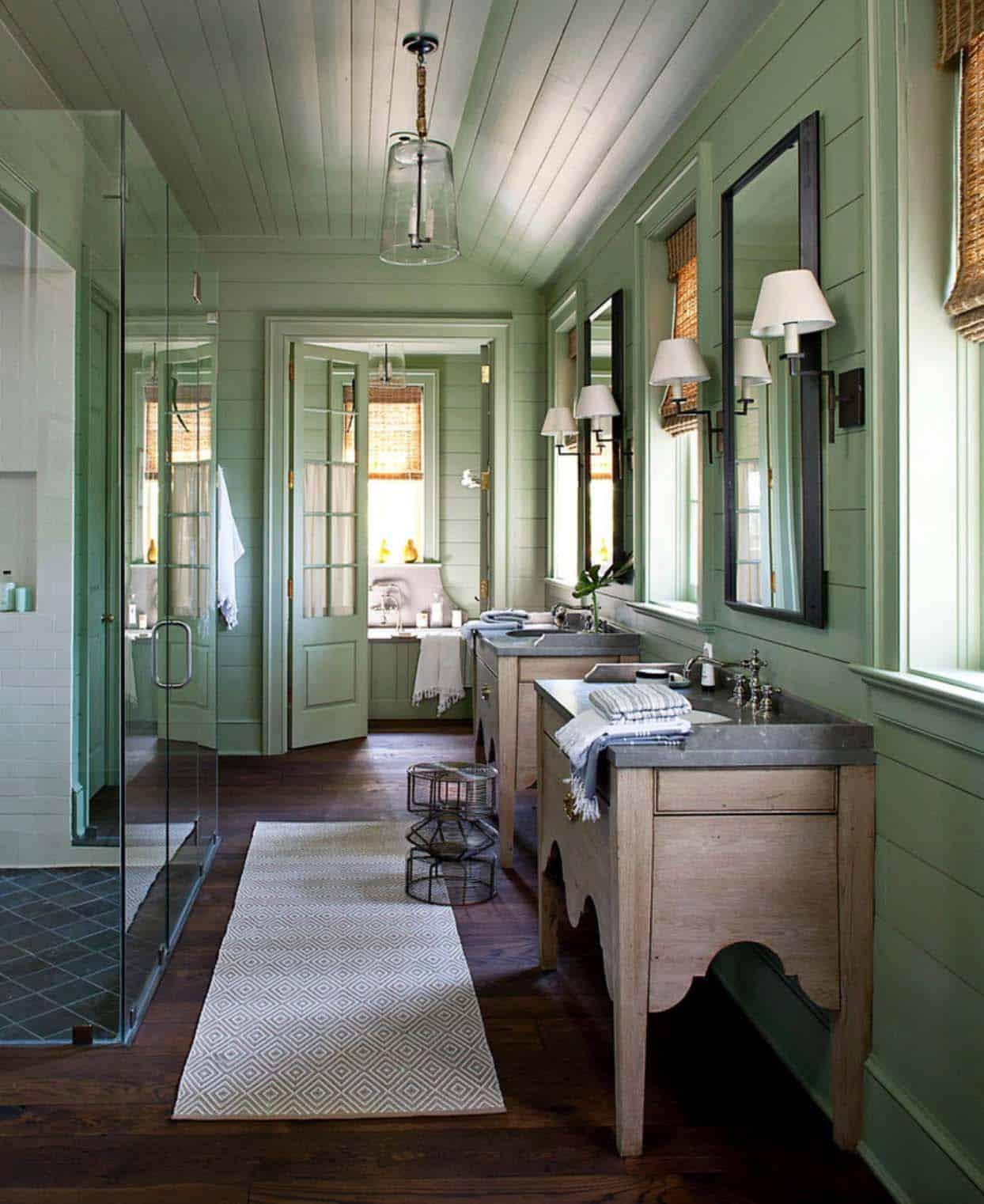 21 Gorgeous farmhouse style bathrooms you will love on Farmhouse Bathroom  id=26378