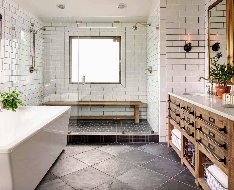 21 Gorgeous farmhouse style bathrooms you will love on Farmhouse Tile  id=80751