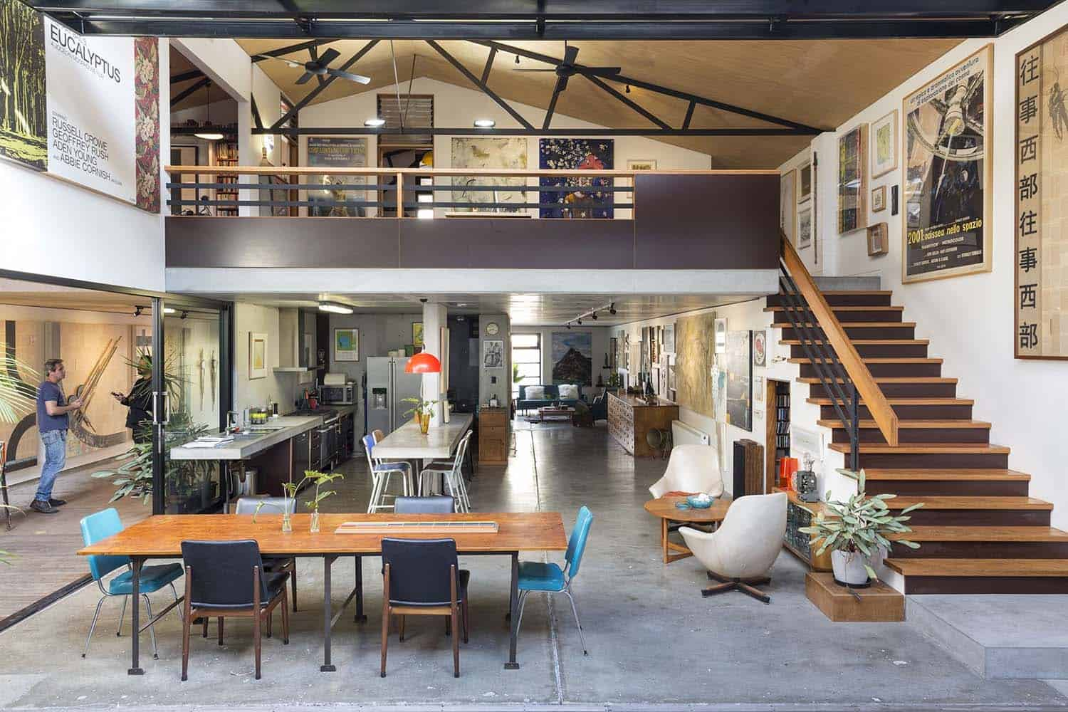 Chic industrial warehouse in Australia offers sleek urban living
