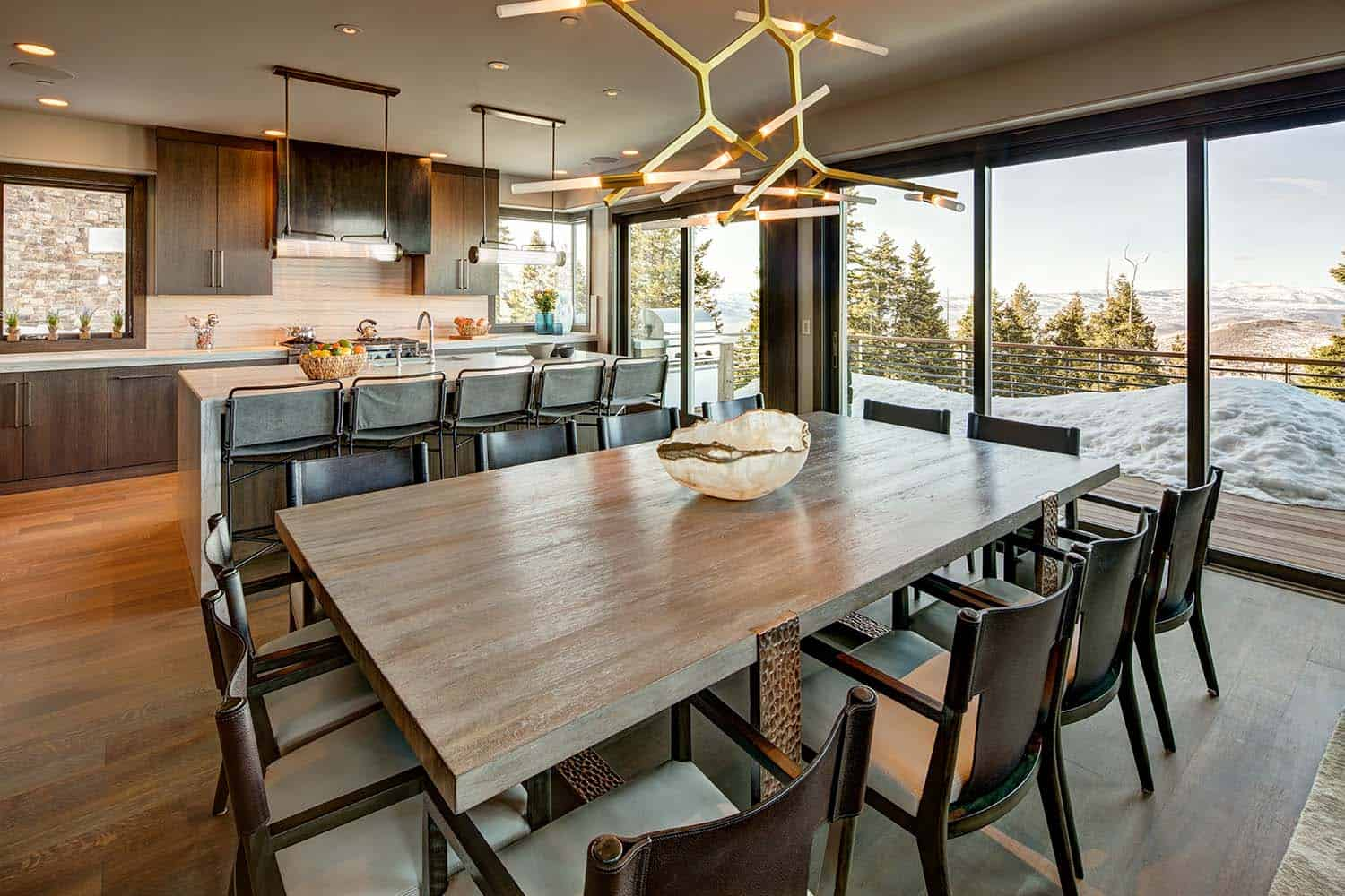 Mountain modern home in park city lets you ski to your door for Modern home design utah