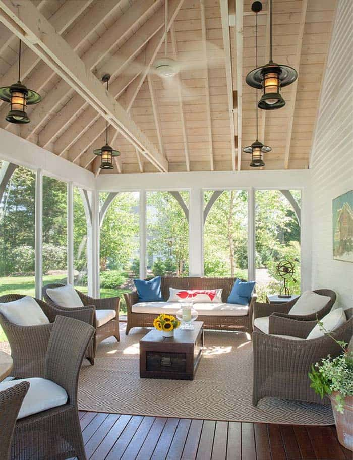 38 amazingly cozy and relaxing screened porch design ideas for Beach porch ideas