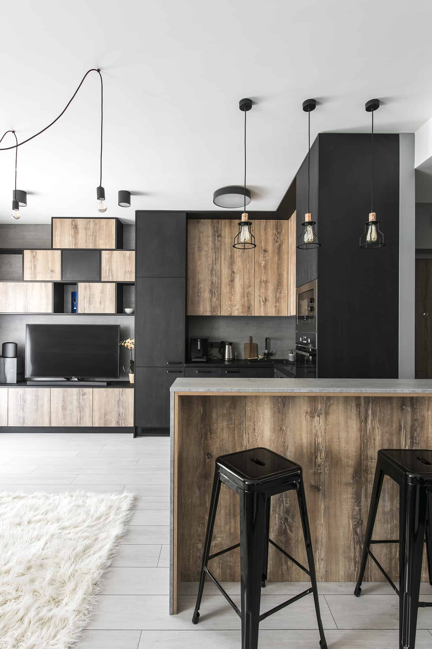 Modern Industrial Apartment-Authentic Interior-06-1 Kindesign