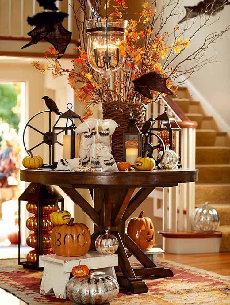 Fall-Inspired Entryway Decorating Ideas-07-1 Kindesign