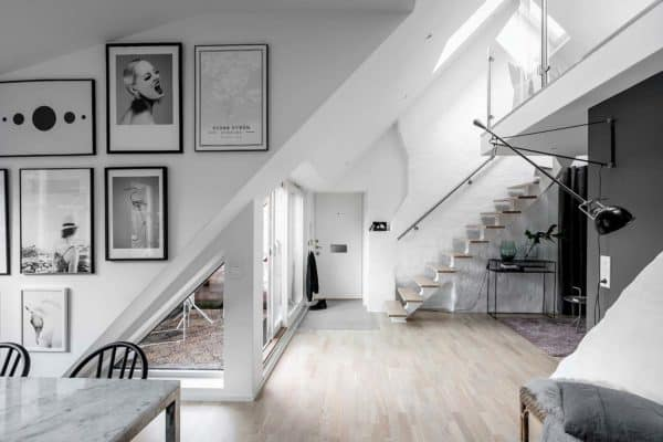 featured posts image for Fresh and stylish two-story loft apartment in Gothenburg