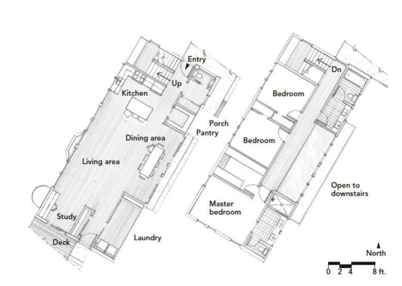 Floor Plan-Modern Sustainable Home-LEED-SALA Architects